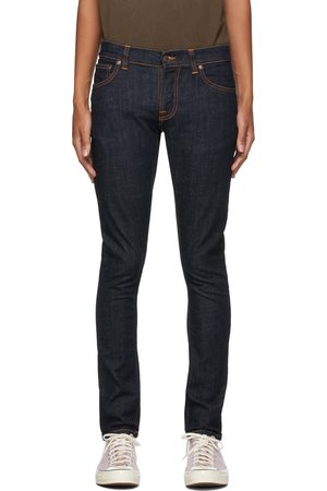 Men Jeans - Nudie Jeans Navy Tight Terry Jeans