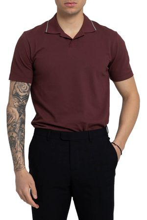 Z Zegna Stripe Trim Polo Shirt