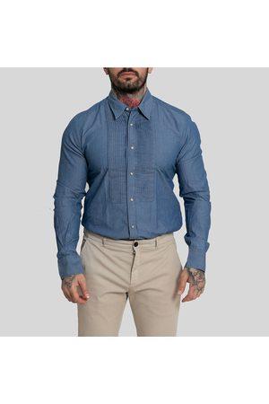 Tintoria Mattei Men Long Sleeve - Long Sleeved Buttoned Shirt-Denim