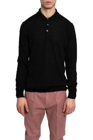 +39 MASQ Men Polo Shirts - +39Masq Long Sleeve Polo Shirt