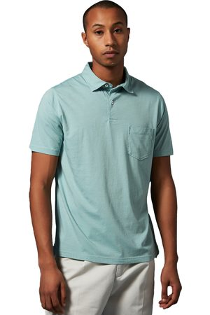 Hartford Jersey Knitted Polo Verdigris