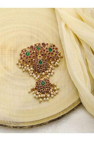 Priyaasi Women Gold-Toned & Green Hair Accessory