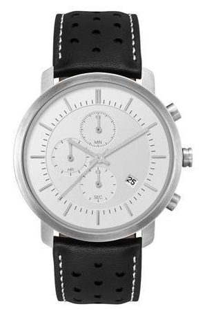 Sostter Minimal Silver and Triple Chronograph Mens Watch
