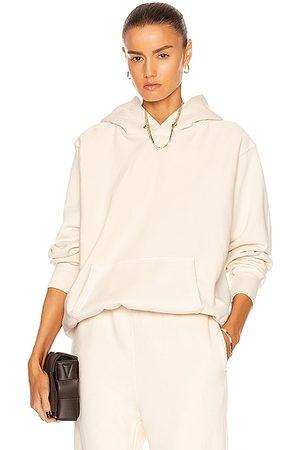 Les Tien Copped Hoodie Sweatshirt in Ivory