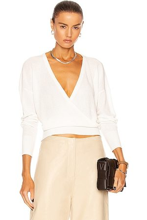 L'Agence Blair Crossover Pullover in Ivory