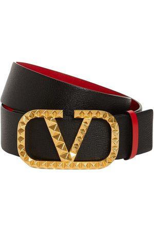 VALENTINO GARAVANI 40mm V Logo Signature Leather Belt