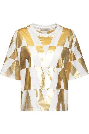 VALENTINO Women T-shirts - V Optical Print Cotton Jersey T-shirt