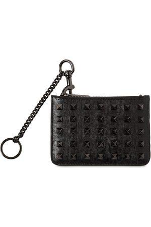 VALENTINO GARAVANI Men Wallets - Ruthenio Studs Leather Card Case