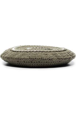 Ganni Disc-embellished crochet beret