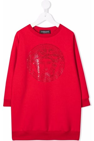 VERSACE Medusa logo sweatshirt dress