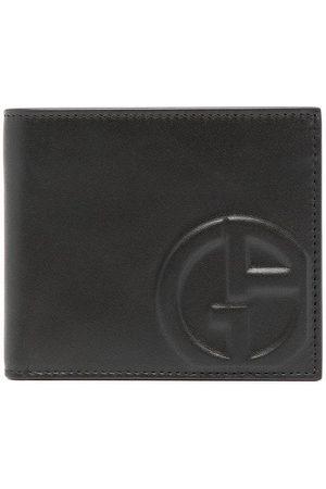 Armani Embossed-logo leather wallet