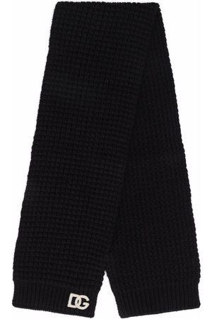 Dolce & Gabbana Kids Chunky knit wool scarf