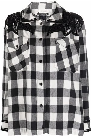 P.a.r.o.s.h. Sequin-embellished check-print shirt
