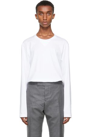 Thom Browne Gusset RWB Tipping Stripe Long Sleeve T-Shirt