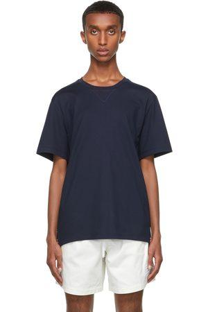 Thom Browne Navy Gusset RWB Tipping Stripe T-Shirt