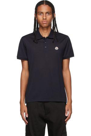 Moncler Navy Knit Polo