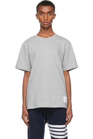 Thom Browne Grey Relaxed-Fit Side Slit T-Shirt