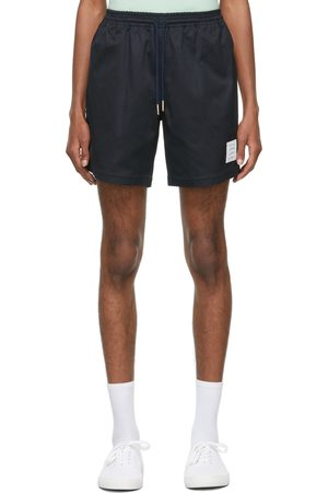 Thom Browne Navy Drawcord Rugby Shorts