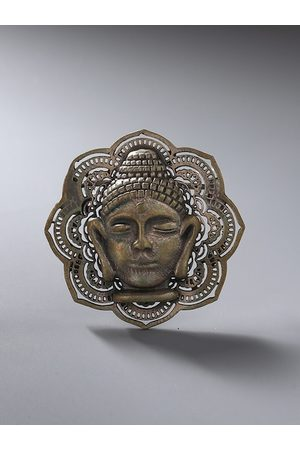 COSA NOSTRAA Men Antique Gold-Toned The Dhyana Buddha Brooch