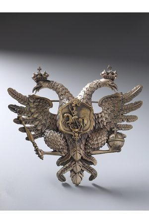 COSA NOSTRAA Men Antique Gold-Toned Rising Phoenix Brooch