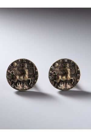 COSA NOSTRAA Bronze-Toned Sagittarius Zodiac Sign Cufflink
