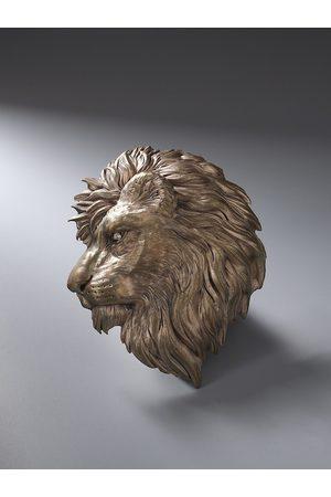 COSA NOSTRAA Men Antique Gold-Toned Lion Brooch