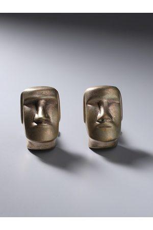 COSA NOSTRAA Men Bronze-Toned Stonehenge face Cufflink