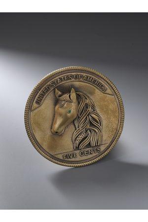 COSA NOSTRAA Men Antique Gold-Toned The Horse Coin Brooch