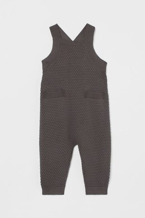 H&M Knitted dungarees - Grey