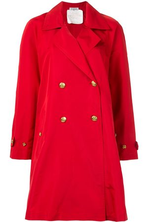CHANEL CC button trench coat