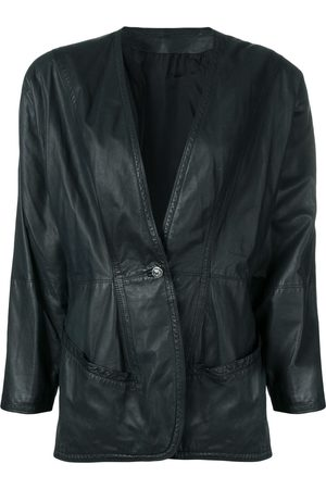 VERSACE Women Leather Jackets - 1980's leather jacket