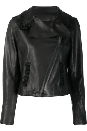 CHANEL Off-centre front leather jacket