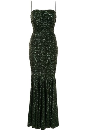 Dolce & Gabbana Women Evenings Dresses - Sequin ruched gown