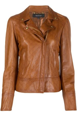 Gucci GG leather jacket