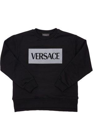 VERSACE Boys Sweatshirts - Logo Print Jersey Sweatshirt
