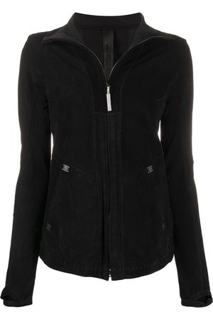 ISAAC SELLAM EXPERIENCE Women Leather Jackets - Saugrenue patchwork jacket