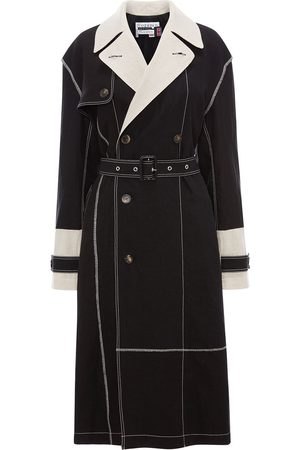 J.W.Anderson Contrast stitching belted trench coat