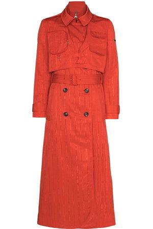 Marine Serre Belted-waist midi trench coat