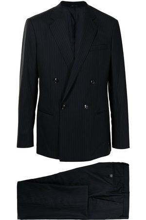 Armani Double-breasted stripe pattern suit