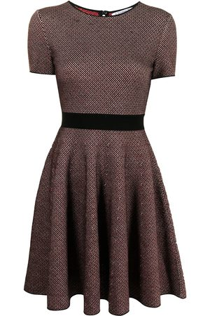 Christian Dior Pre-owned short-sleeved flared dress