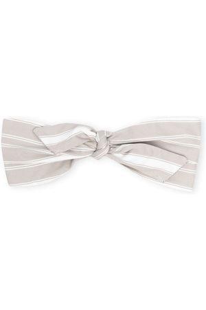 Brunello Cucinelli Headbands - Stripe-print knotted headband