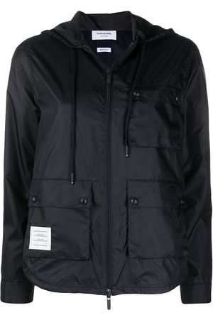 Thom Browne Women Trench Coats - Zip-up hooded jacket