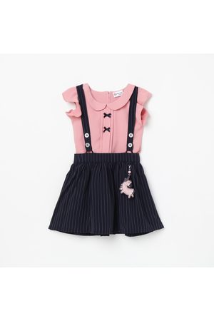 Peppermint Girls Dungaree with Solid Top