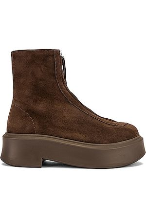 The Row Zipped Boots in Ash