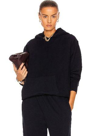 Les Tien Women Jumpers - Cropped Hoodie Sweatshirt in Navy