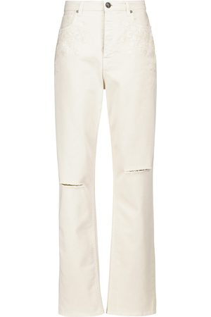 Etro High-rise distressed jeans