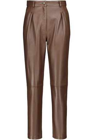 Etro High-rise tapered leather pants
