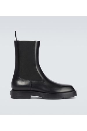 Givenchy Squared box leather Chelsea boots