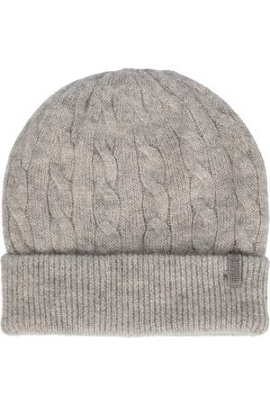 Brunello Cucinelli Embellished cable-knit beanie
