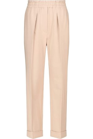 Brunello Cucinelli Pleated cotton terry sweatpants